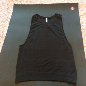 Lululemon Black Muscle Mesh Hot Yoga Running Tank